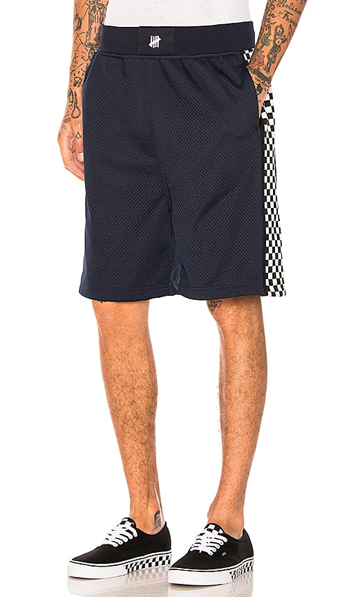 Undefeated Finish Line Basketball Short in Navy
