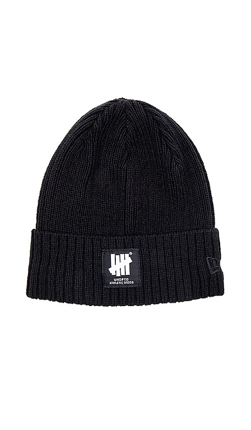 14a6ba207aa21 Undefeated UNDFTD Label New Era Beanie in Black