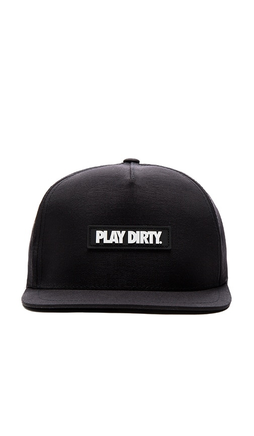 Undefeated Play Dirty Nylon Snapback in Black