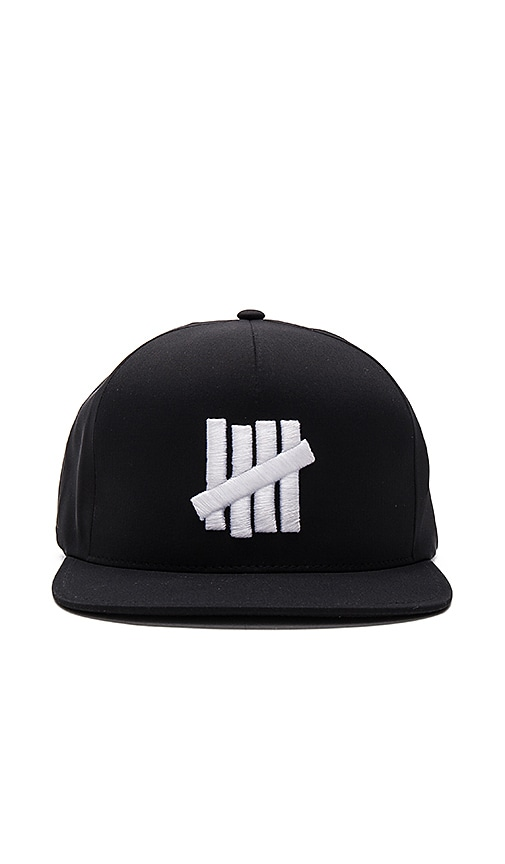 Undefeated 5 Strike Delta Fitted Cap in Black