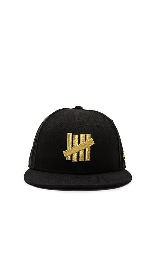 Undefeated Metallic 5 Strike New Era Cap in Black