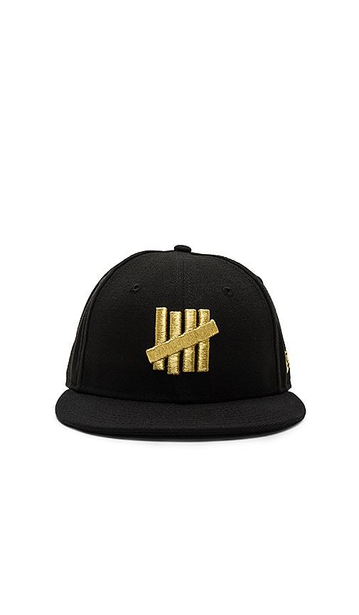ed220c8189b72 Undefeated Metallic 5 Strike New Era Cap in Black