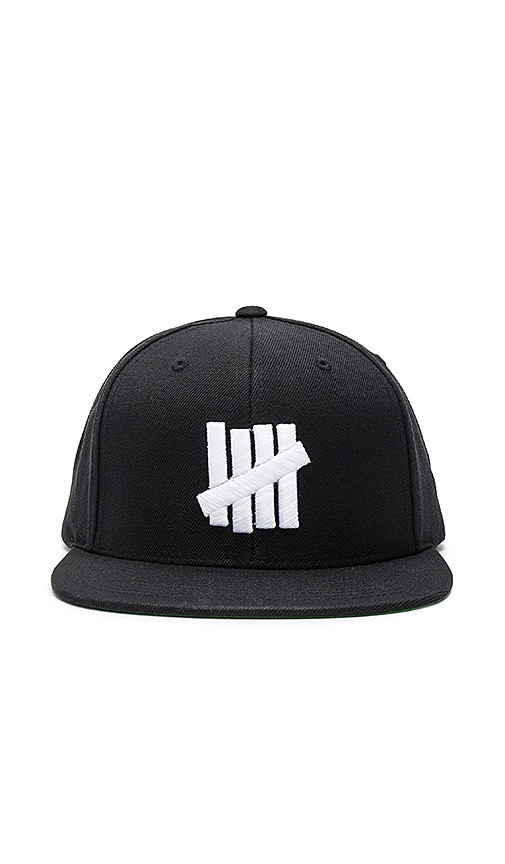 Undefeated 5 Strike Hat in Black