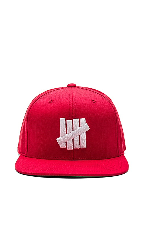 Undefeated 5 Strike Cap in Red
