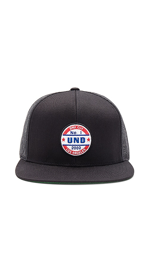 Undefeated No. 1 Trucker Snapback in Black