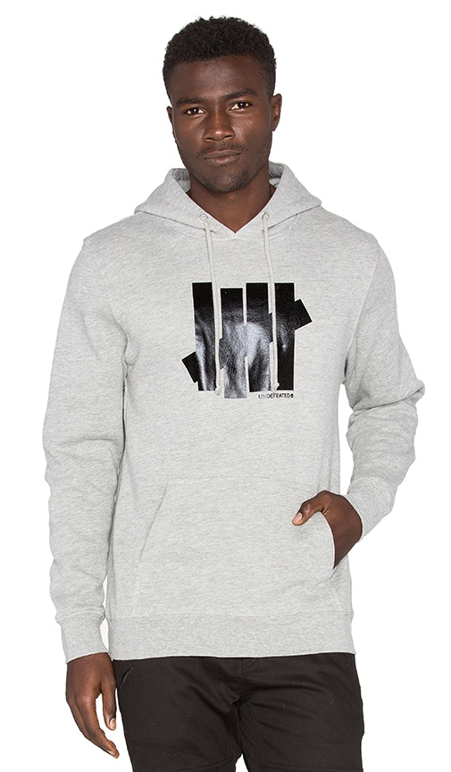 Undefeated 5 Strike Hoody in Grey Heather