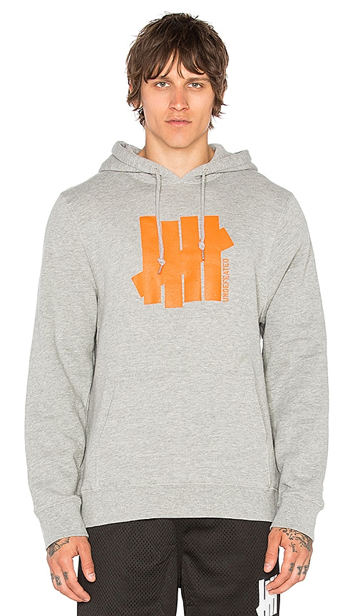 Undefeated Strike Vert Und Hoodie in Gray