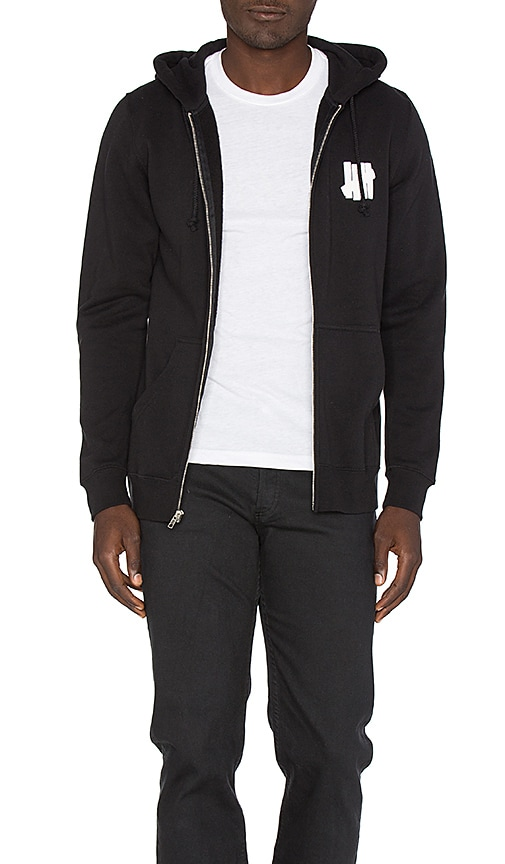 Undefeated Chest Strike Zip Hoodie in Black