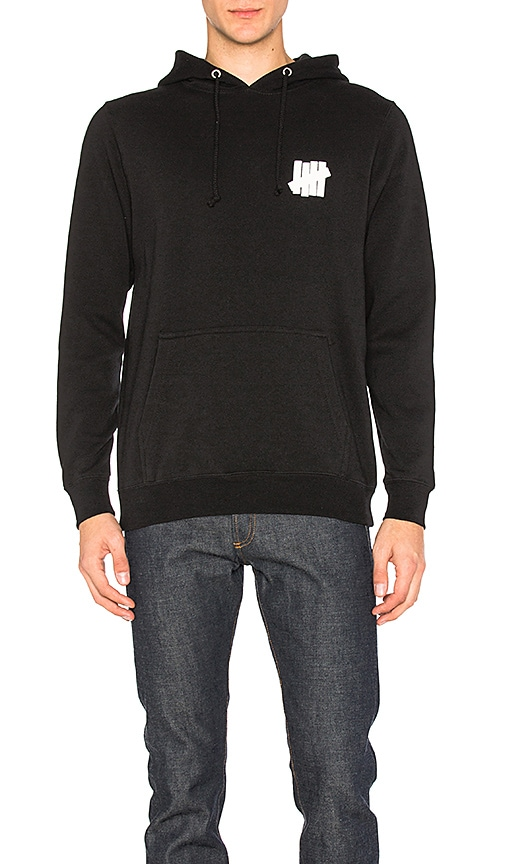 Undefeated Interference Hoodie in Black