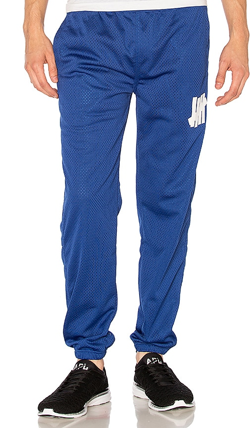 Undefeated 5 Strike Mesh Warm Up Pant in Blue