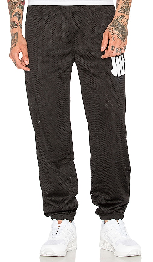 Undefeated 5 Strike Mesh Warm Up Pant in Black