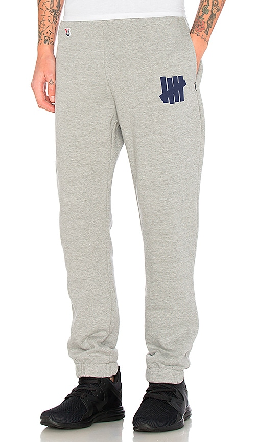 Undefeated 5 Strike Sweatpant in Gray