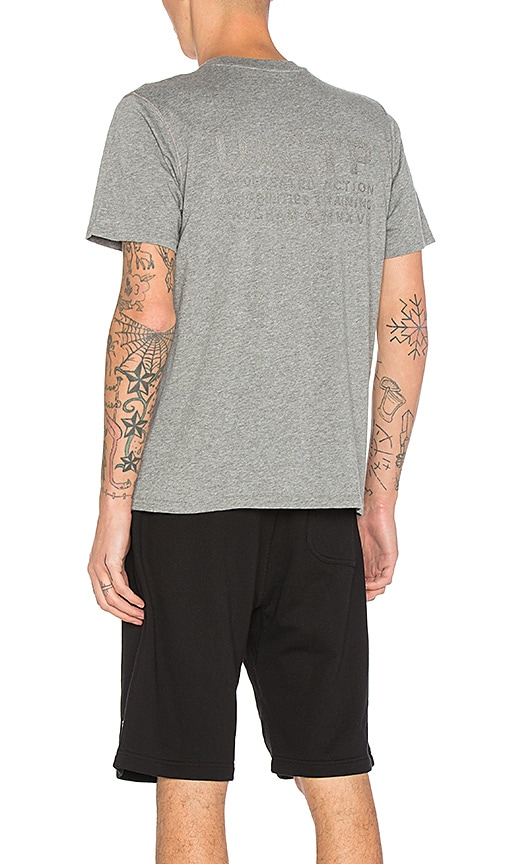 Undefeated Slash Tech Tee in Gray