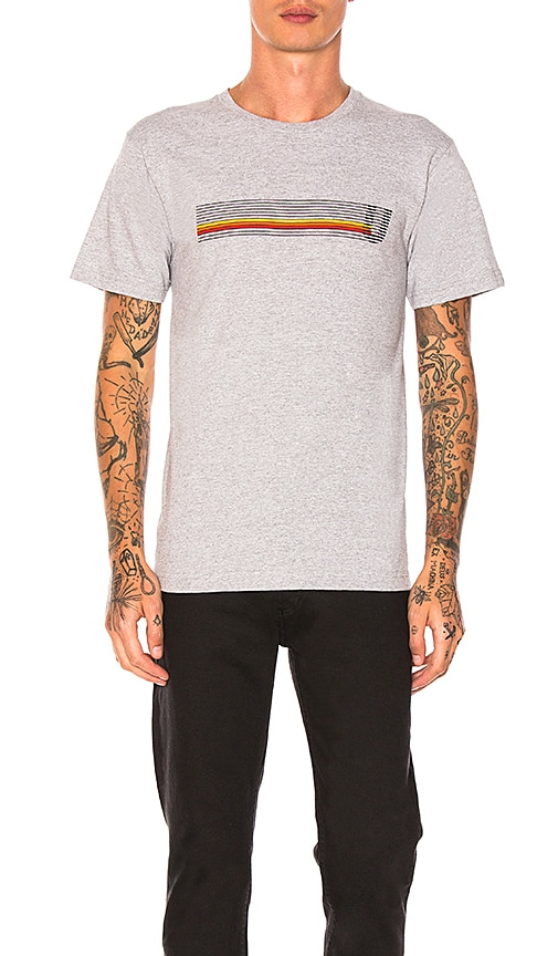 Undefeated Speed Stripes Tee in Gray