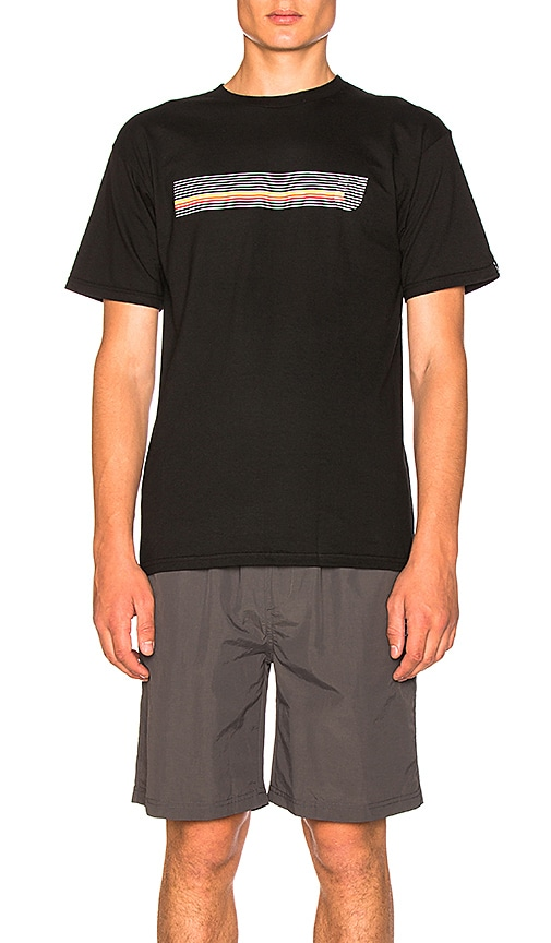 Undefeated Speed Stripes Tee in Black