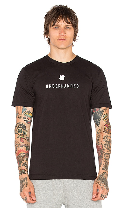 Undefeated Underhanded Tee in Black