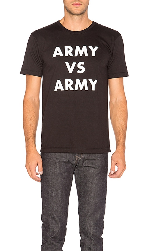 Undefeated Army Vs Army Tee in Black & White