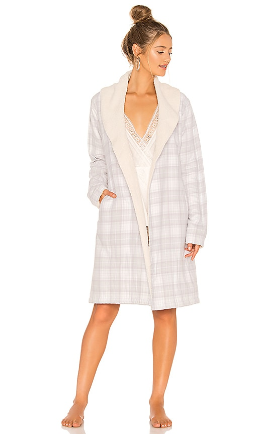 UGG Anika Flannel Robe in Lavender Aura Plaid  1d622bf51