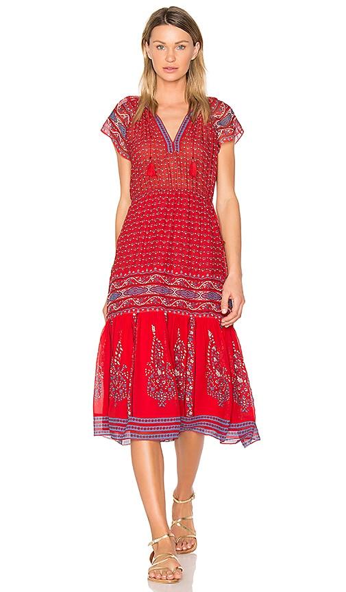 Ulla Johnson Neela Dress in Red