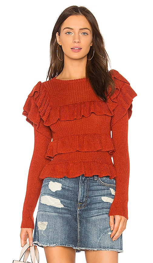 Ulla Johnson Mabel Pullover in Rust