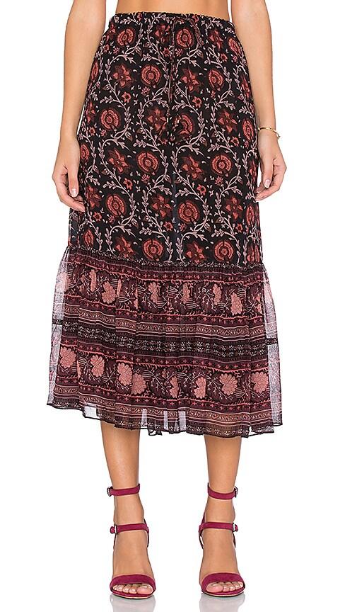Ulla Johnson Isha Skirt in Dark Floral