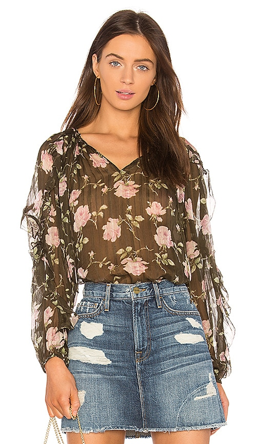 Ulla Johnson Azalea Blouse in Olive