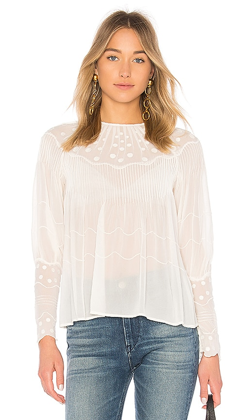 Ulla Johnson Alba Blouse in Ivory