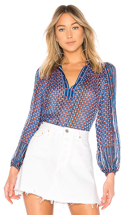 Ulla Johnson Constance Blouse in Blue