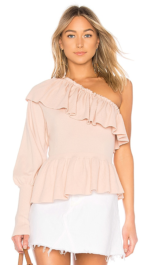 Ulla Johnson Eden One Shoulder Top in Rose