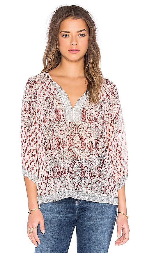 Ulla Johnson Aix Blouse in Red