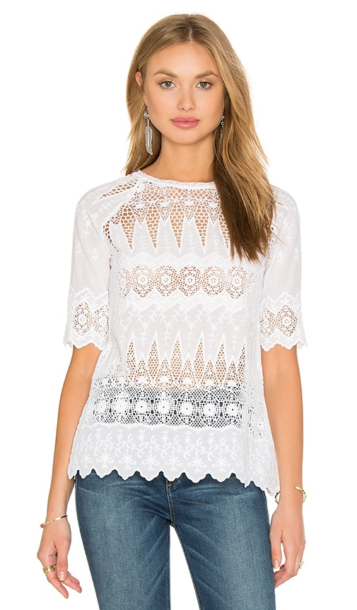 Ulla Johnson Sadie Blouse in White