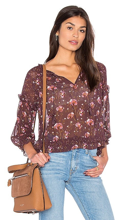 Ulla Johnson Raine Blouse in Wine