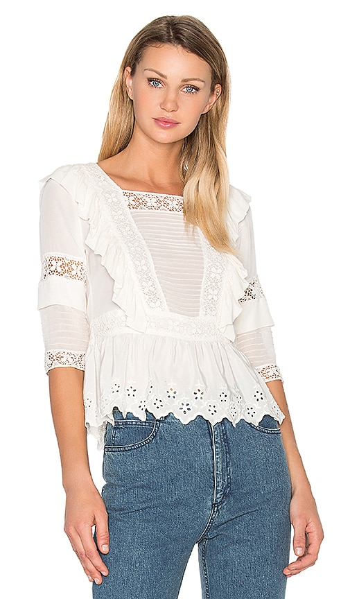 Ulla Johnson Charlotte Blouse in White