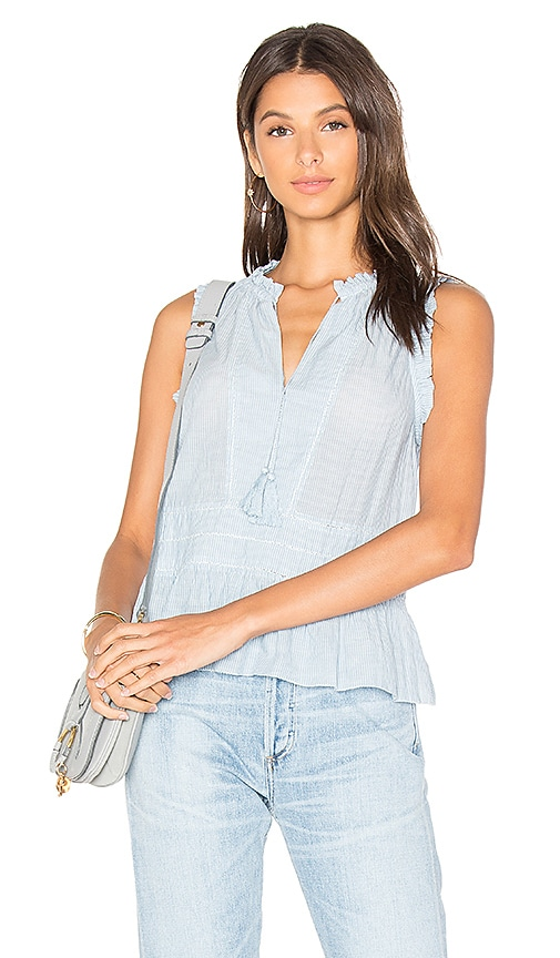Ulla Johnson Cosette Blouse in Blue