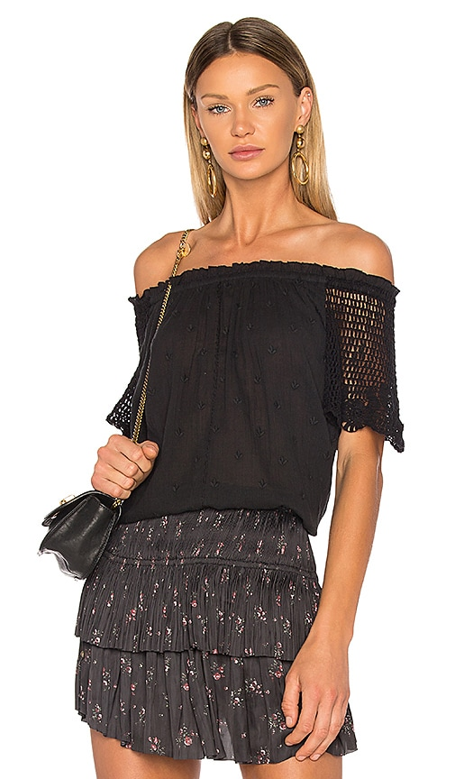 Ulla Johnson Benedicte Top in Black