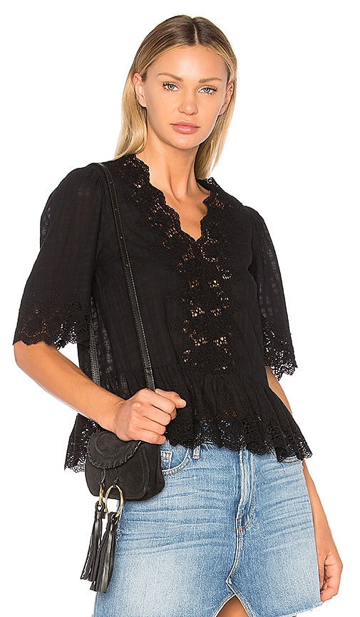 Ulla Johnson Hedda Blouse in Black