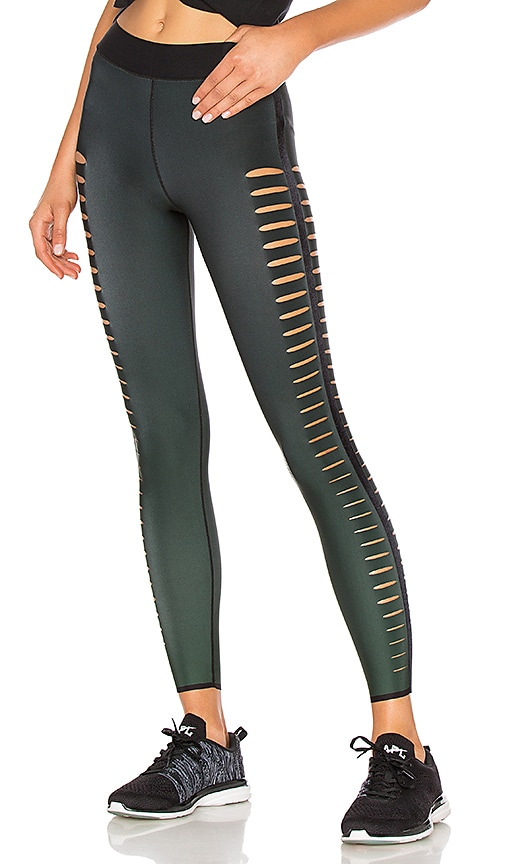 Gradient Velvet Slash Legging