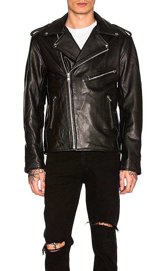 Understated Leather Easy Rider MC Jacket in Black