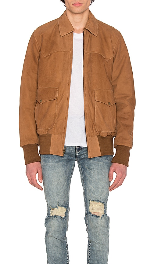 Understated Leather x REVOLVE Nubuck Flight Jacket in Brown
