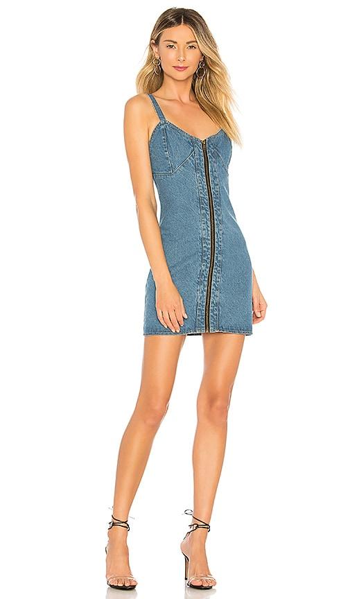 fea65be268 Understated Leather x REVOLVE City Slicker Denim Mini Dress in ...