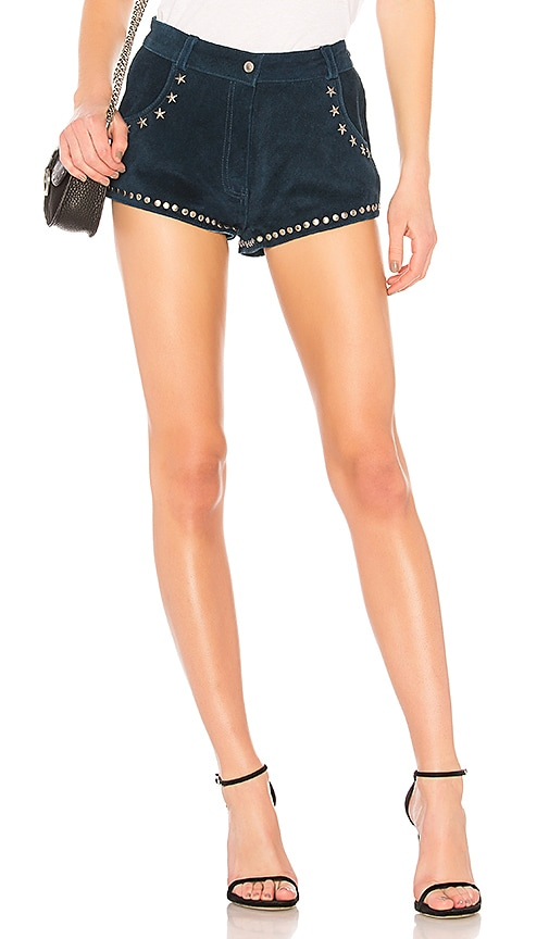 Understated Leather Paris Texas Short in Blue