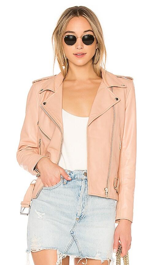 Understated Leather x REVOLVE Lightweight Easy Rider Jacket in Blush