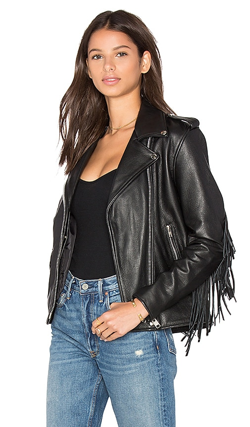 Understated Leather x REVOLVE Magic Dance Jacket in Black