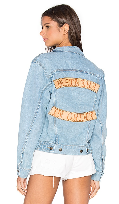 Understated Leather x REVOLVE Partners In Crime Denim Jacket in Sky Blue