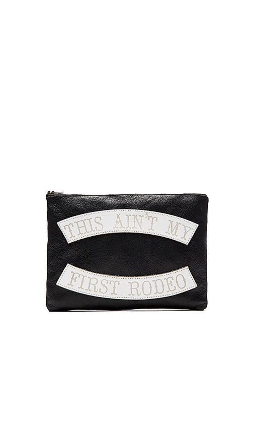 Understated Leather x REVOLVE This Ain't My First Rodeo Clutch in Black