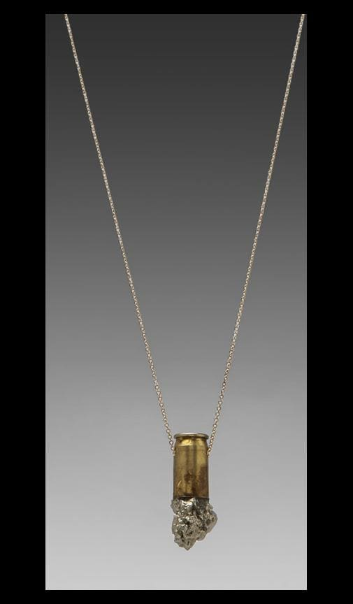 Medium Pyrite Crystal Pendant on 14k Gold Chain