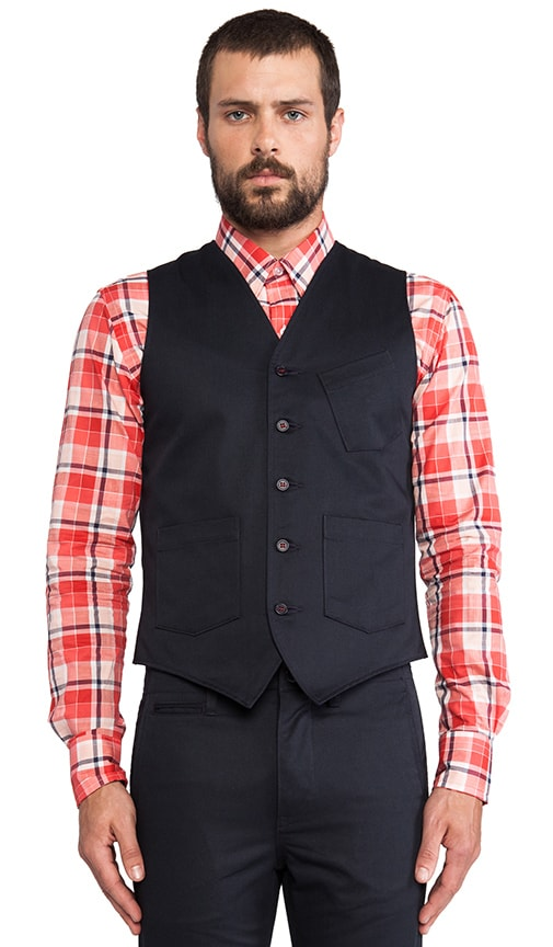 Twill Tailored Vest