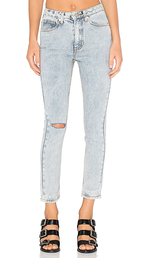 UNIF Bab High Rise Destroyed Jean in Light Blue