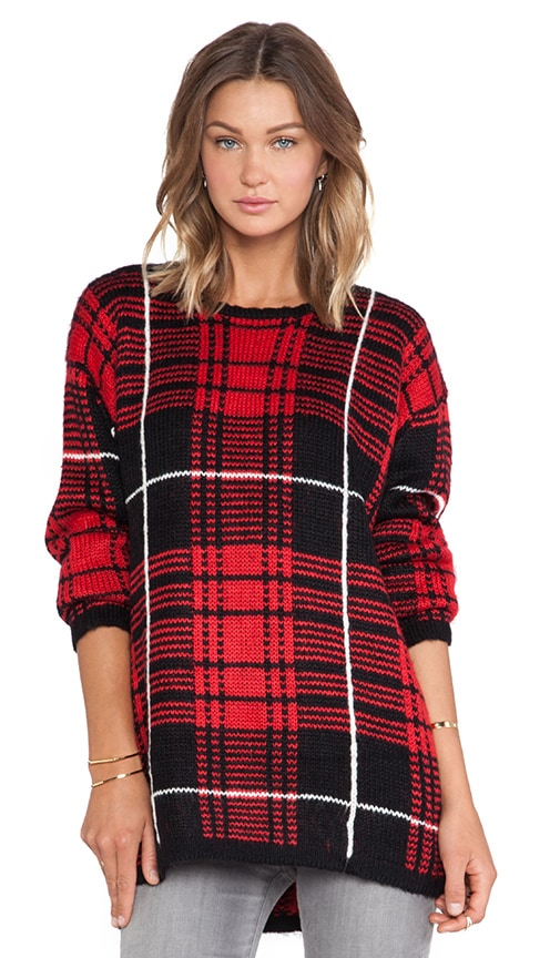Jumbo Plaid Sweater