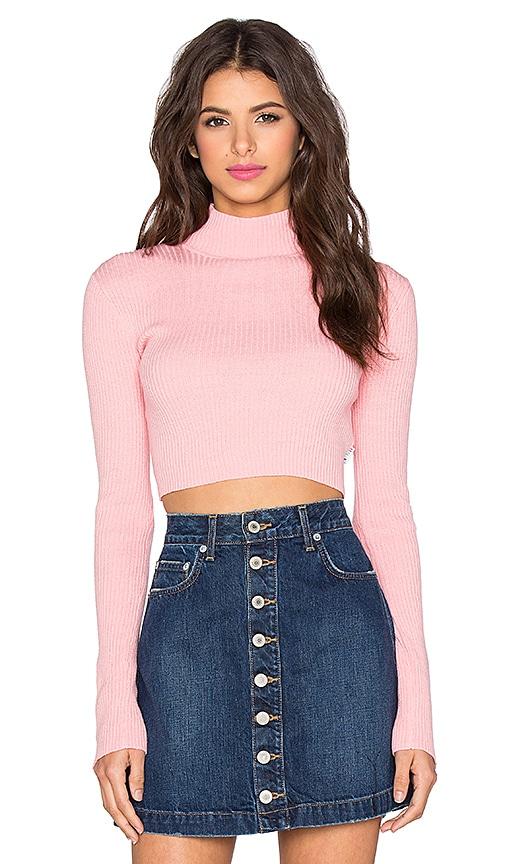 UNIF Ara Sweater in Pink